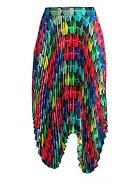 Milly - Pleated Geo Print Skirt at Saks Fifth Avenue