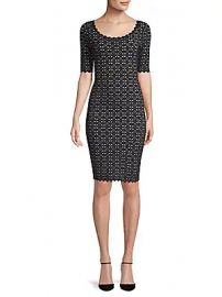 Milly - Pointelle Sheath Dress at Saks Off 5th