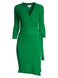 Milly - Ruffle Edge Wrap Dress at Saks Fifth Avenue