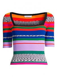 Milly - Space Dye Rainbow Stripe Sweater at Saks Fifth Avenue
