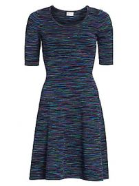 Milly - Spacedye Fit- amp -Flare Dress at Saks Fifth Avenue