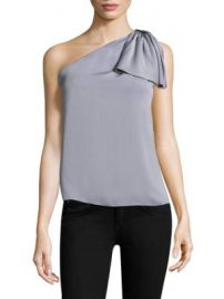 Milly - Stretch Cindy Top at Saks Fifth Avenue