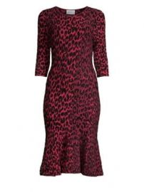 Milly - Textured Leopard Mermaid Dress at Saks Fifth Avenue