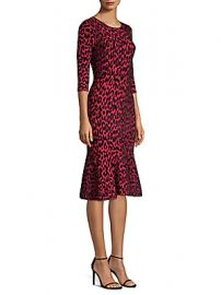 Milly - Textured Leopard Mermaid Dress at Saks Off 5th