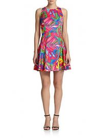 Milly - Tropical Print Fit- amp -Flare Dress at Saks Fifth Avenue