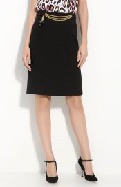 Milly Chain Front Pencil Skirt at Nordstrom