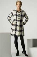 Milly Check Pattern Coat at Nordstrom