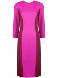 Milly Colour Block Fitted Dress  - Farfetch at Farfetch