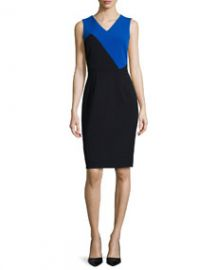 Milly Daphne Colorblock Sheath Dress at Neiman Marcus