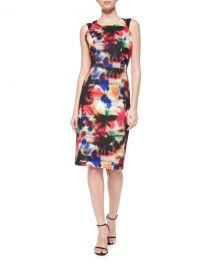 Milly Hayden Graffiti-Print Sheath Dress  Multi Colors   Neiman Marcus at Neiman Marcus