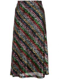 Milly Sequinned Midi Skirt - Farfetch at Farfetch