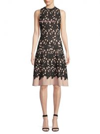Milly Sleeveless Floral Mesh Jacquard Flow Dress at Last Call