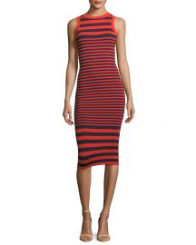 Milly Striped Ottoman Fitted Dress   Neiman Marcus at Neiman Marcus