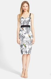 Milly Tropical Print Sheath Dress at Nordstrom