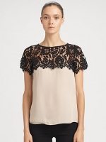 Milly lace top worn on HIMYM at Saks Fifth Avenue