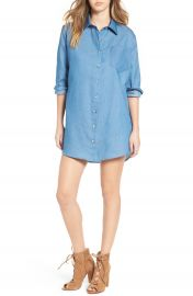 Mimi Chica Chambray Shirtdress at Nordstrom