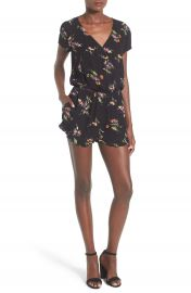 Mimi Chica Floral Print Ruffle Romper at Nordstrom