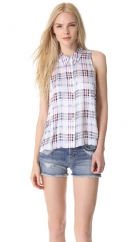 Mina plaid blouse by Equipment at Shopbop
