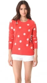 Mindy's cashmere polka dot sweater at Shopbop