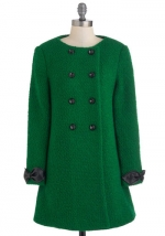 Mindys green coat from Modcloth at Modcloth
