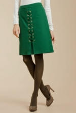Mindy's green lace up skirt at Trinaturk