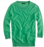 Mindy's green sweater at J Crew at J. Crew