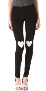 Mindy's heart leggings at Shopbop