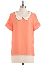 Mindy's peach top at ModCloth at Modcloth