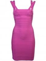 Mindys pink Herve Leger dress at Farfetch