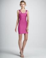 Mindy's pink dress at Bergdorf Goodman