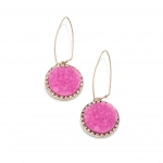 Mindy's pink earrings on The Mindy Project at Rachelroy