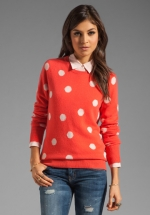 Mindy's polka dot sweater at Revolve at Revolve