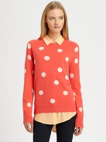 Mindy's polka dot sweater at Saks at Saks Fifth Avenue