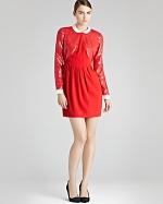 Mindy's red Reiss dress at Bloomingdales at Bloomingdales