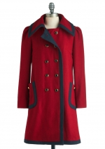 Mindy's red coat at Modcloth at Modcloth
