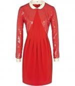 Mindy's red peter pan collar dress at Reiss