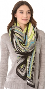 Mindy's scarf by Theodora and Callum at Shopbop