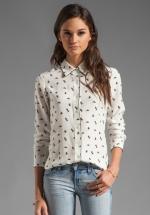 Mindy's shirt at by Theory at Revolve