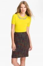 Mindy's yellow sweater by Kate Spade at Nordstrom