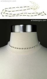 Mini Beaded Pearl Choker at Arte Designs