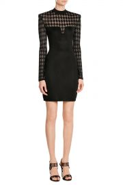 Mini Dress with Sheer Inserts at Stylebop