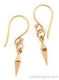 Mini Natural Bronze Spike Earrings at Arte Designs