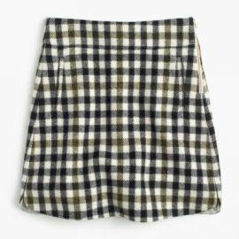 Mini Skirt In Oxford Check at J. Crew