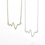 Mini heart beat necklace at Sarah & Chloe