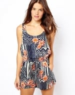 MinkPink Maui Printed playsuit at Asos