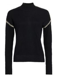 Minnie Rose - Cashmere-Blend Whip Stitch Turtleneck Sweater at Saks Fifth Avenue