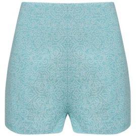 Mint Jacquard High Waisted Shorts by AWAKE at Avenue 32