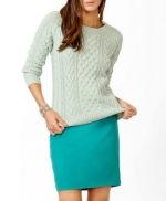 Mint cable sweater from Forever21 at Forever 21