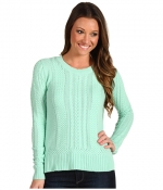 Mint green cable knit sweater from Zappos at Zappos