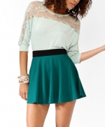 Mint lace top at Forever 21 at Forever 21